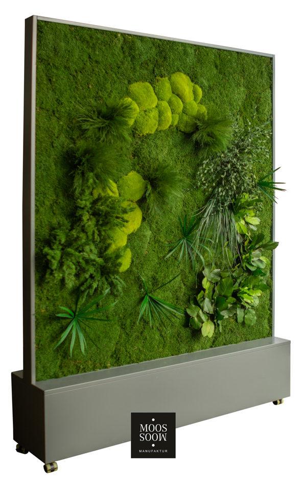 Mobiler Raumteiler aus Pflanzenmoos