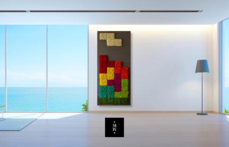 Moosbild mit Islandmoos Wohnzimmer